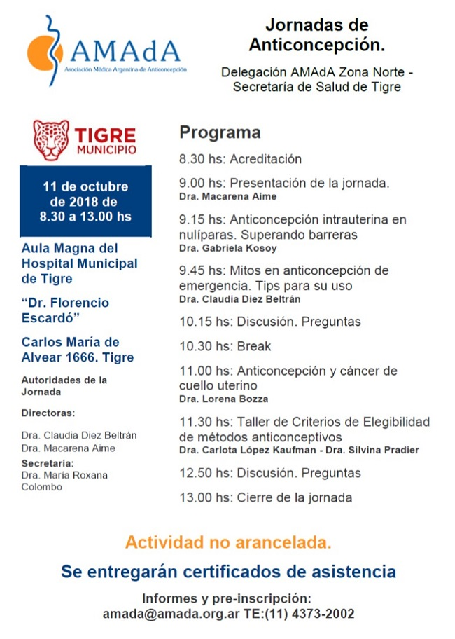 Jornada Anticoncepcion Tigre